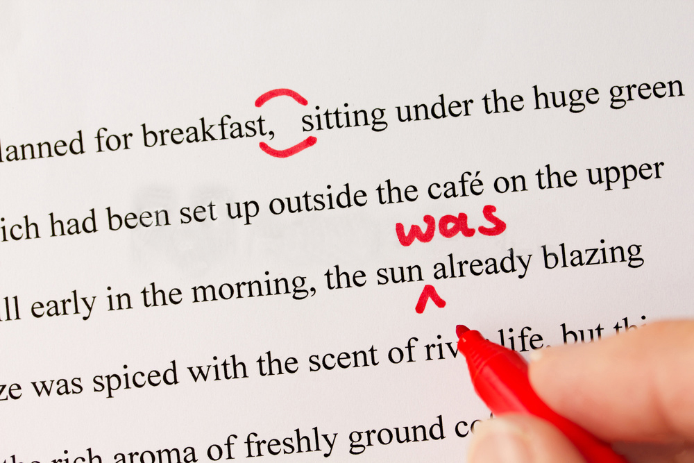 proofreading example